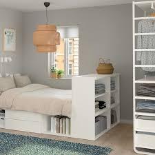 platsa sengestel med 2 skuffer hvid fonnes ikea zimmer