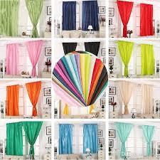 großhandel solid color vorhang wohnzimmer schlafzimmer dekorieren seidenstoff shading fenster gardinen hochzeit wohnkultur bad accessoires 21jx5 cy