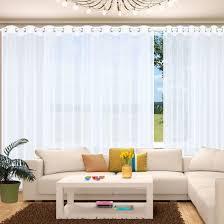 segatex home fashion langstore mit chrom ösen ösenschal als fertigstore gardine vorhang komplett sablé weiß