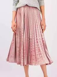pleated elastic waist midi skirt oasap com