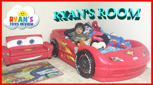 Lighting Mcqueen Toddler Bed by Ryan U0027s Room Tour Disney Pixar Cars Lightning Mcqueen Toys Theme
