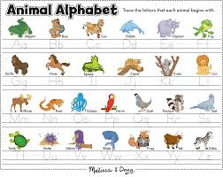 love this animal alphabet printable from melissa & doug great for