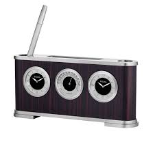 Bulova Table Clocks Wood by Bulova B5005 Woodside Desk Clock Bright Watches
