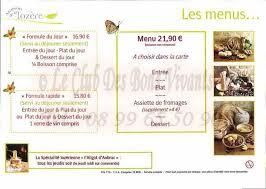 restaurant maison de la lozere carte et menus
