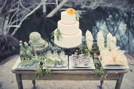 Rustic Wedding Dessert Buffet Table