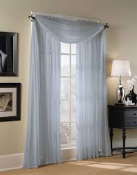 Striped Sheer Curtain Panels by Blue Sheer Curtains One Pair Of Carolina Blue Color Sheer Swag