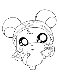 Mamegoma Coloring Pages Hamtaro Okini Cute And On Kawaii