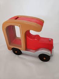 100 Fire Truck Kids Handmade Solid Wood Red Carfire Truck Kids Piggy Bank Etsy
