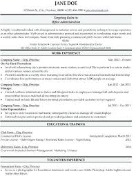Examples Of Office Manager Resumes Sample Administrator Resume Best Templates Samples