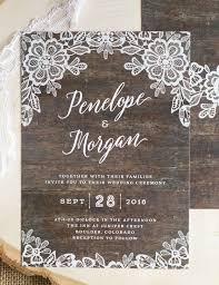 Rustic Wedding Invites Specially Created