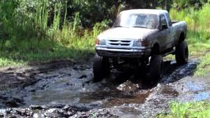 Jacked Up Ranger Mudding At