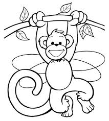 Coloring Pages Monkey 19 Of Monkeys 18 Free
