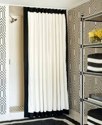 Black And White Flower Shower Curtain by Black And White Curtain Home Design Ideas And Pictures