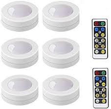 lightone wireless led puck lights küche unterschrank beleuchtung mit fernbedienung batteriebetrieben dimmbar 6 stück