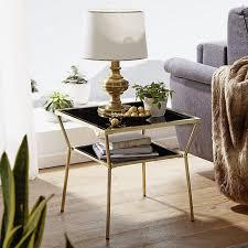 wohnling couchtisch glas schwarz gold in 2 größen metallgestell wohnzimmertisch beistelltisch glastisch