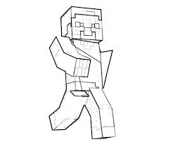 Diamond Steve Coloring Pages With Within Armor Minecraft