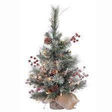 3ft Pre Lit Berry Christmas Tree amazon com vickerman snow tip pine berry tree with 20 clear