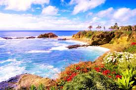 Laguna Beach California Seaside Ocean Pacific Clouds Blossoms Iphone 5 Wallpaper Tumblr For HD