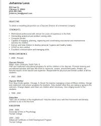 Child Care Resume Objective How To Write A For Job On