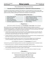 Example Of Housekeeping Resume Executive Housekeeper Templates For Hospital