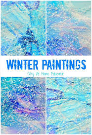 Sparkly Mixed Media Winter Art Project Idea From Stay At Home Educator ECE