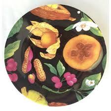 canapé limoges limoges tropical fruits canape plates set of 10 chairish