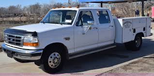 100 Ford F350 Utility Truck 1996 XL Crew Cab Utility Truck Item E6269 SOLD
