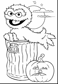 Extraordinary Printable Halloween Coloring Page Sesame Street With Printing Pages And For