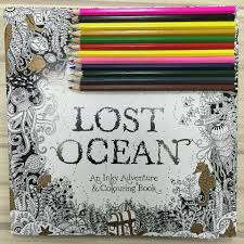 Lost Ocean English Edition Coloring Books For Children Adult Relieve Stress Creative Therapy Doodling Drawing Fedex Free Christmas Book