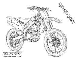 Dirt Bike Drawing Luxury Outline Coloring Dirtbikes