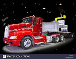 Red Semi Tractor Trailer Truck Being Loaded With Roll Formed Steel ... Httpwwwrgecarmagmwpcoentgallylcm_southern_classic12 1695527 Acrylic Pating Alrnate Version Artistorang111 Bat Semi Truck Lights Awesome Volvo Vnl 670 780 Led Headlights Fog Light Up The Night In This Kenworth Trucknup Pinterest Biggest Round Led And Trailer 4 Braketurntail Tail For Trucks Decor On Stock Photos Oukasinfo Modern Yellow Big Rig Semitruck With Dry Van Compact Powerful Photo Royalty Free Blue Design Bright Headlight And Flat Bed Image