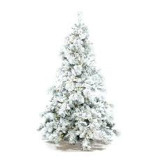 9 Ft Flocked Christmas Tree 7 Slim Pine Needle Lit With Berries And Foot White Artificial