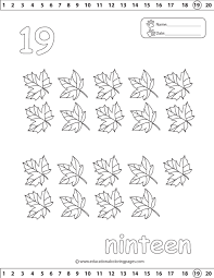 Number 19 Coloring Pages