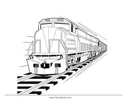 Detail Train Coloring Page