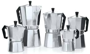 Stovetop Espresso Maker Traditional Aluminum Set 5 Piece Bodum