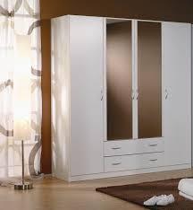 armoire chambre coucher armoire adulte contemporaine 4 portes coloris blanc noa armoire 4