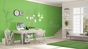 le bureau verte lieu de travail à la maison pièce blanche et verte scandinave