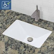 Kohler Verticyl Rectangular Undermount Sink by Undermount Bathroom Sinks American Standard Orbit Circular