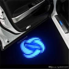 Case For DS Case For Genesis Car Logo LED Interior Lights Welcome ...
