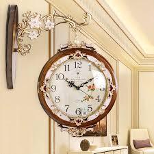 europäische doppel seite wanduhr wohnzimmer kreative mode uhr zwei wanduhr einfache stumm uhren reloj de pared 50wc039