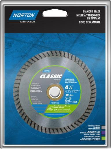 Norton Turbo Rim General Purpose Saw Blade - 4 1/2""