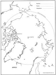 Ilustración De Polar Blanco Osos Y Zorros Con Triángulo Abstracto