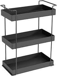 winner h standregal aus schmiedeeisen 3 etagen kosmetik organizer badezimmer ablagen organizer schwarz