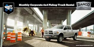 100 Barco Truck Rental RentA On Twitter Monthly Corporate 4x4 Pickup Truck