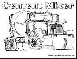 Good Semi Truck Coloring Pages With Dump And Print