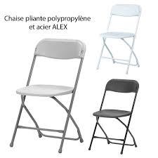 chaise de pliante pliante polypropylène et acier alex