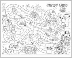 Candyland Board Game Coloring Page For Children