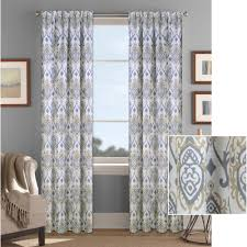 Brown And Teal Living Room Curtains by Better Homes And Gardens Damask Curtain Panel Walmart Com