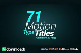 VIDEOHIVE MOTION TYPE TITLE ANIMATIONS FREE DOWNLOAD