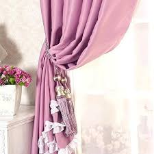 Purple Ruffle Curtain Panel by Ruffle Blackout Curtains U2013 Teawing Co